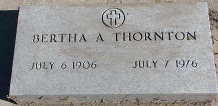 THORNTON, BERTHA A. - Union County, South Dakota | BERTHA A. THORNTON - South Dakota Gravestone Photos