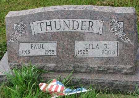 THUNDER, PAUL - Union County, South Dakota | PAUL THUNDER - South Dakota Gravestone Photos