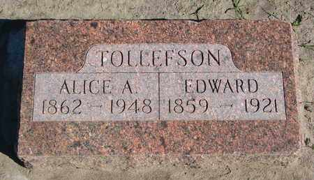 TOLLEFSON, EDWARD - Union County, South Dakota | EDWARD TOLLEFSON - South Dakota Gravestone Photos