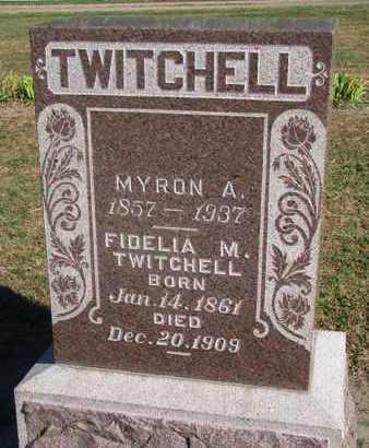 TWITCHELL, FIDELIA M. - Union County, South Dakota | FIDELIA M. TWITCHELL - South Dakota Gravestone Photos