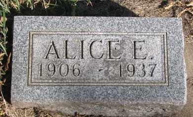 UNKNOWN, ALICE E. - Union County, South Dakota | ALICE E. UNKNOWN - South Dakota Gravestone Photos