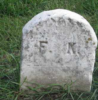 UNKNOWN, F.K. - Union County, South Dakota | F.K. UNKNOWN - South Dakota Gravestone Photos