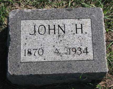 UNKNOWN, JOHN H. - Union County, South Dakota   JOHN H. UNKNOWN - South Dakota Gravestone Photos