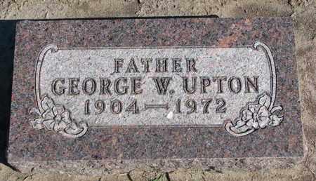 UPTON, GEORGE W. - Union County, South Dakota | GEORGE W. UPTON - South Dakota Gravestone Photos