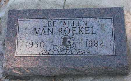 VAN ROEKEL, LEE ALLEN - Union County, South Dakota | LEE ALLEN VAN ROEKEL - South Dakota Gravestone Photos