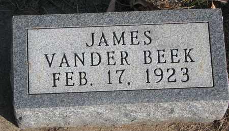 VANDER BEEK, JAMES - Union County, South Dakota | JAMES VANDER BEEK - South Dakota Gravestone Photos