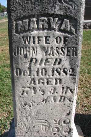 VASSER, MARY A. (CLOSEUP) - Union County, South Dakota   MARY A. (CLOSEUP) VASSER - South Dakota Gravestone Photos