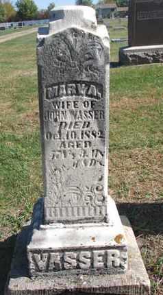 VASSER, MARY A. - Union County, South Dakota | MARY A. VASSER - South Dakota Gravestone Photos