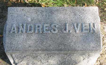 VEN, ANDRES J. (FOOTSTONE) - Union County, South Dakota | ANDRES J. (FOOTSTONE) VEN - South Dakota Gravestone Photos