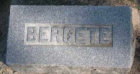 VEN, BERGETE (FOOTSTONE) - Union County, South Dakota   BERGETE (FOOTSTONE) VEN - South Dakota Gravestone Photos