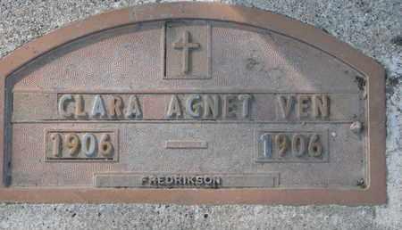 VEN, CLARA AGNET - Union County, South Dakota | CLARA AGNET VEN - South Dakota Gravestone Photos