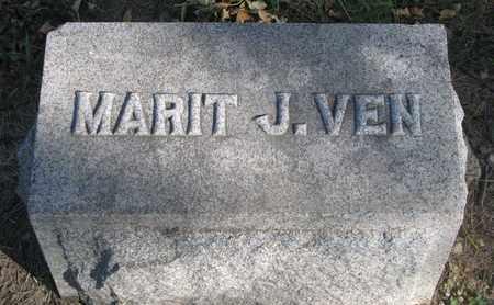 VEN, MARIT J. (FOOTSTONE) - Union County, South Dakota | MARIT J. (FOOTSTONE) VEN - South Dakota Gravestone Photos
