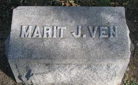 VEN, MARIT J. (FOOTSTONE) - Union County, South Dakota   MARIT J. (FOOTSTONE) VEN - South Dakota Gravestone Photos