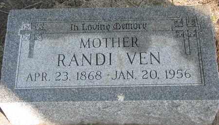 VEN, RANDI - Union County, South Dakota | RANDI VEN - South Dakota Gravestone Photos