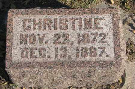 VINDAHL, CHRISTINE - Union County, South Dakota | CHRISTINE VINDAHL - South Dakota Gravestone Photos