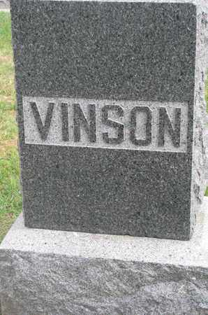 VINSON, FAMILY STONE - Union County, South Dakota | FAMILY STONE VINSON - South Dakota Gravestone Photos