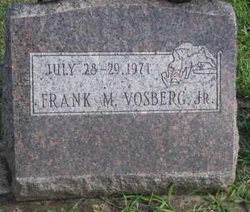 VOSBERG, FRANK M. JR. - Union County, South Dakota   FRANK M. JR. VOSBERG - South Dakota Gravestone Photos