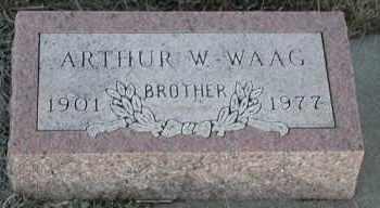 WAAG, ARTHUR W - Union County, South Dakota | ARTHUR W WAAG - South Dakota Gravestone Photos