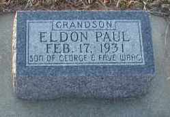 WAAG, ELDON PAUL - Union County, South Dakota | ELDON PAUL WAAG - South Dakota Gravestone Photos