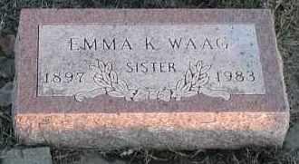 WAAG, EMMA K - Union County, South Dakota | EMMA K WAAG - South Dakota Gravestone Photos