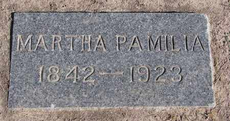 WALLACE, MARTHA PAMILIA - Union County, South Dakota | MARTHA PAMILIA WALLACE - South Dakota Gravestone Photos