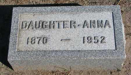 WALTERS, ANNA - Union County, South Dakota | ANNA WALTERS - South Dakota Gravestone Photos