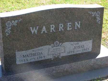 WARREN, MATHILDA - Union County, South Dakota   MATHILDA WARREN - South Dakota Gravestone Photos