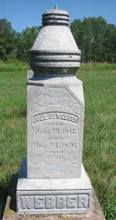 WEBBER, JOEL F. - Union County, South Dakota | JOEL F. WEBBER - South Dakota Gravestone Photos