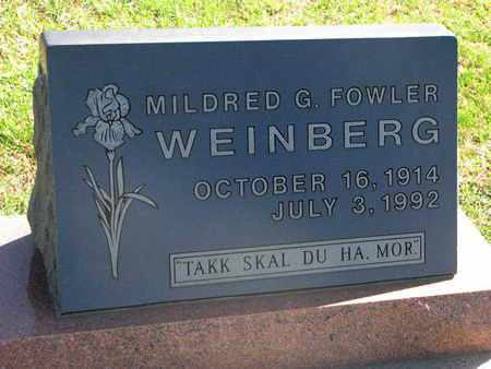 WEINBERG, MILDRED G. - Union County, South Dakota | MILDRED G. WEINBERG - South Dakota Gravestone Photos