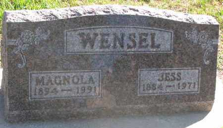 WENSEL, JESS - Union County, South Dakota | JESS WENSEL - South Dakota Gravestone Photos