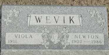 WEVIK, NEWTON - Union County, South Dakota   NEWTON WEVIK - South Dakota Gravestone Photos