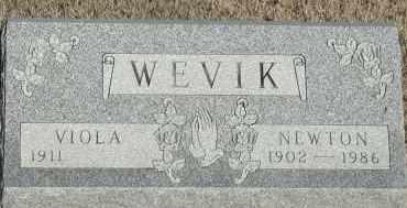 WEVIK, NEWTON - Union County, South Dakota | NEWTON WEVIK - South Dakota Gravestone Photos