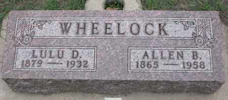 WHEELOCK, ALLEN B. - Union County, South Dakota | ALLEN B. WHEELOCK - South Dakota Gravestone Photos