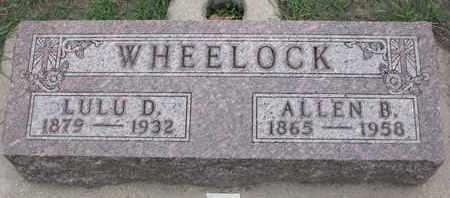 WHEELOCK, LULU D. - Union County, South Dakota | LULU D. WHEELOCK - South Dakota Gravestone Photos