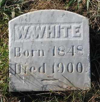 WHITE, W. - Union County, South Dakota   W. WHITE - South Dakota Gravestone Photos
