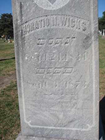 WICKS, HORATIO N. (CLOSEUP) - Union County, South Dakota   HORATIO N. (CLOSEUP) WICKS - South Dakota Gravestone Photos