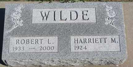 WILDE, ROBERT L. - Union County, South Dakota | ROBERT L. WILDE - South Dakota Gravestone Photos