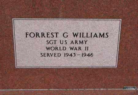 WILLIAMS, FORREST G. (WORLD WAR II) - Union County, South Dakota | FORREST G. (WORLD WAR II) WILLIAMS - South Dakota Gravestone Photos