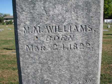 WILLIAMS, M.M. (CLOSEUP) - Union County, South Dakota | M.M. (CLOSEUP) WILLIAMS - South Dakota Gravestone Photos