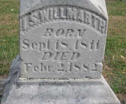 WILLMARTH, I.S. (CLOSEUP) - Union County, South Dakota   I.S. (CLOSEUP) WILLMARTH - South Dakota Gravestone Photos