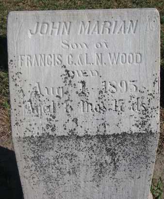 WOOD, JOHN MARIAN - Union County, South Dakota | JOHN MARIAN WOOD - South Dakota Gravestone Photos