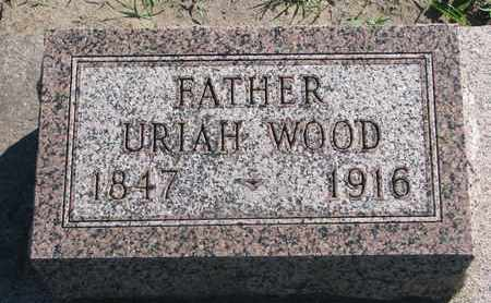 WOOD, URIAH - Union County, South Dakota   URIAH WOOD - South Dakota Gravestone Photos