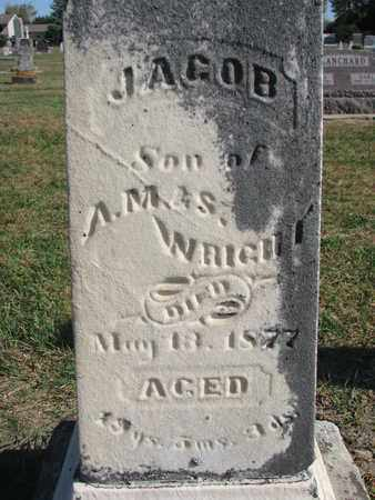 WRIGHT, JACOB (CLOSEUP) - Union County, South Dakota | JACOB (CLOSEUP) WRIGHT - South Dakota Gravestone Photos