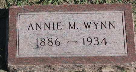 WYNN, ANNIE M. - Union County, South Dakota | ANNIE M. WYNN - South Dakota Gravestone Photos