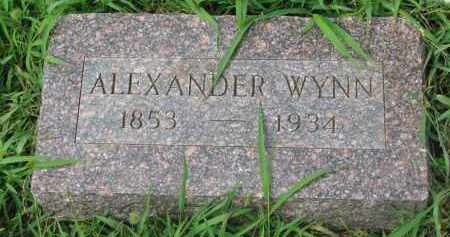 WYNN, ALEXANDER - Union County, South Dakota | ALEXANDER WYNN - South Dakota Gravestone Photos