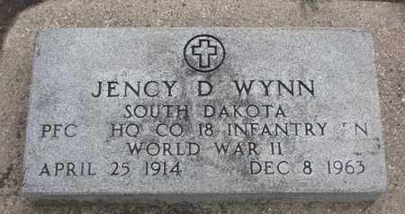 WYNN, JENCY D. (WORLD WAR II) - Union County, South Dakota | JENCY D. (WORLD WAR II) WYNN - South Dakota Gravestone Photos