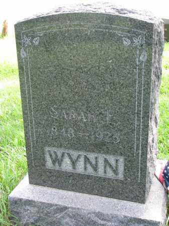 WYNN, SARAH E. - Union County, South Dakota | SARAH E. WYNN - South Dakota Gravestone Photos
