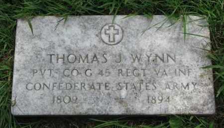 WYNN, THOMAS J. - Union County, South Dakota   THOMAS J. WYNN - South Dakota Gravestone Photos
