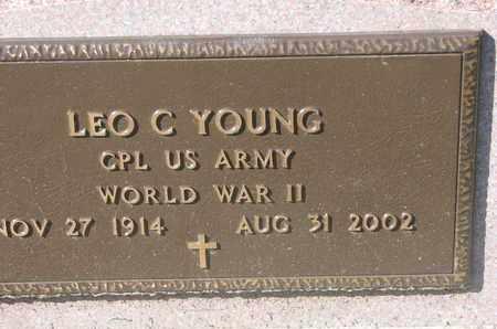 YOUNG, LEO C. (WORLD WAR II) - Union County, South Dakota | LEO C. (WORLD WAR II) YOUNG - South Dakota Gravestone Photos