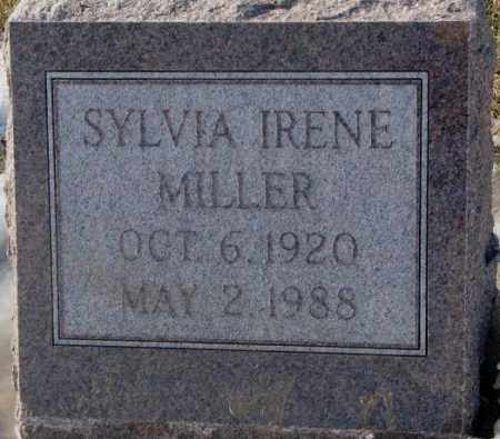 MILLER, SYLVIA IRENE - Yankton County, South Dakota   SYLVIA IRENE MILLER - South Dakota Gravestone Photos